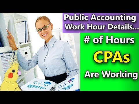 Public Accounting Hours Per Week  Average Hours CPAs Work in Public Accounting Very Detailed