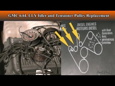 Duramax 6 6l Lly Tensioner And Idler Pulley Replacement Youtube