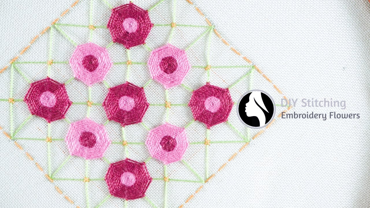 Floral Designs Embroidery Free Hand