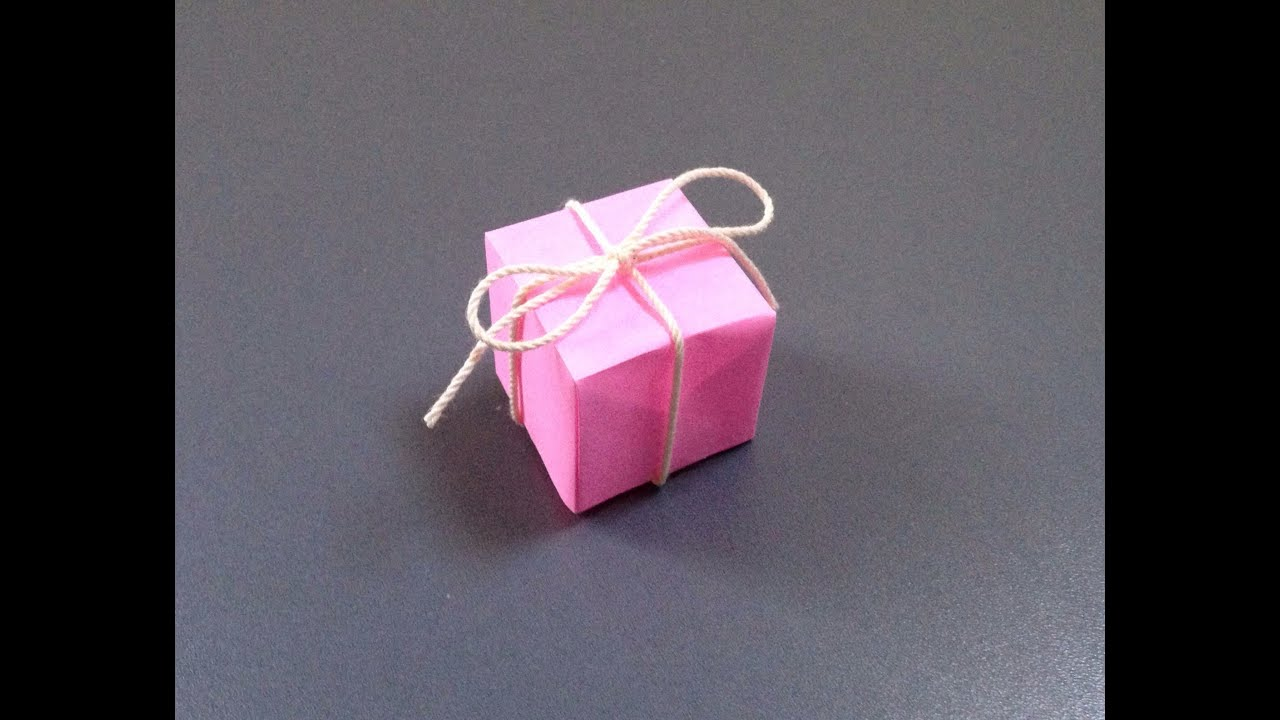 すべての折り紙 折り紙 折り方 簡単 : 飾り プレゼントボックス 折り ...