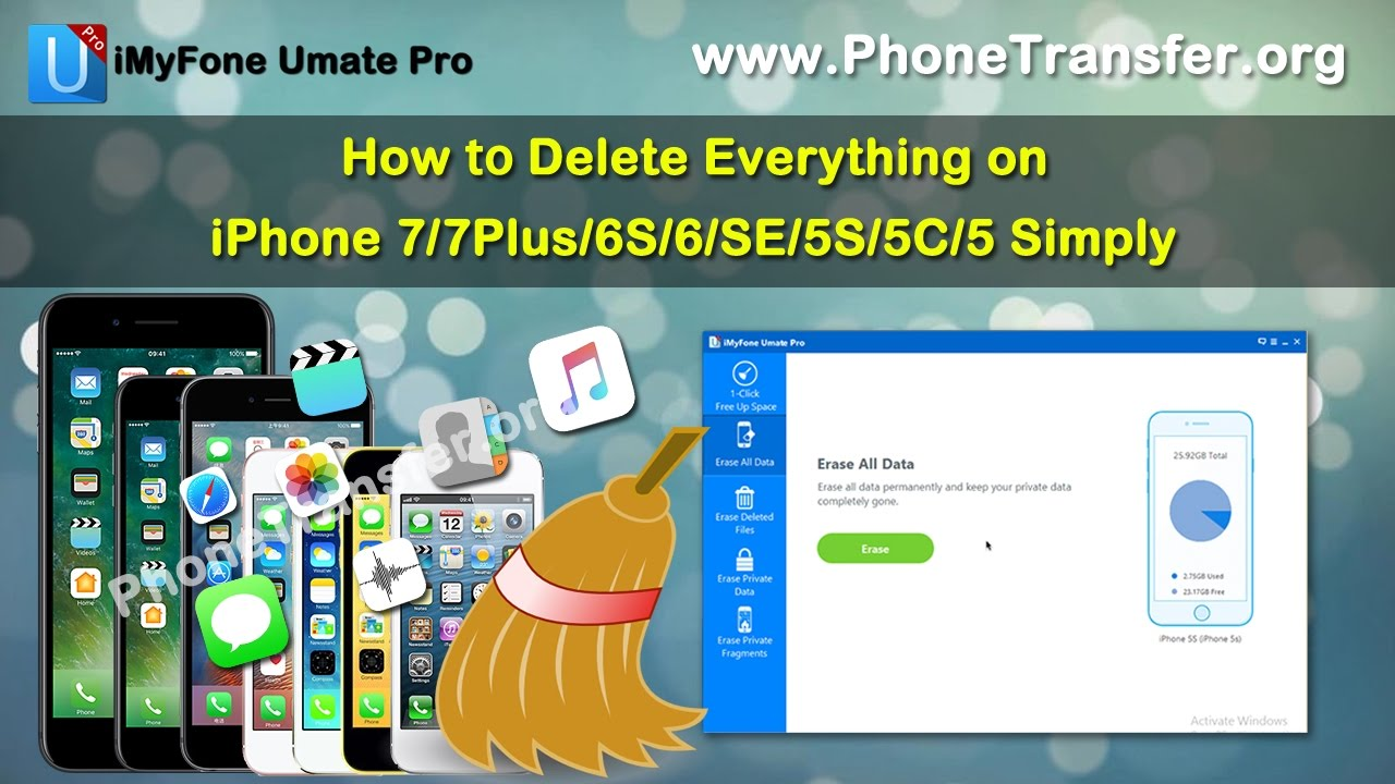 how to delete everything off iphone how to delete everything on iphone xs xr x 8 7 7plus 6s 6 9860