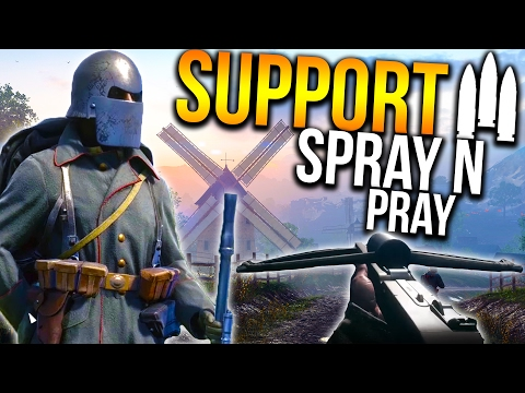 BATTLEFIELD 1 SUPPORT LMG KILLSTREAKS   BF1 Support Gameplay