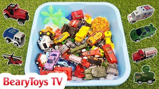 Toy Car Review Police Car, Garbage Truck, Fire Truck, Military Vehicles