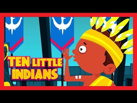 Ten Little Indians Nursery Rhyme with LYRICS  10 Little Indians