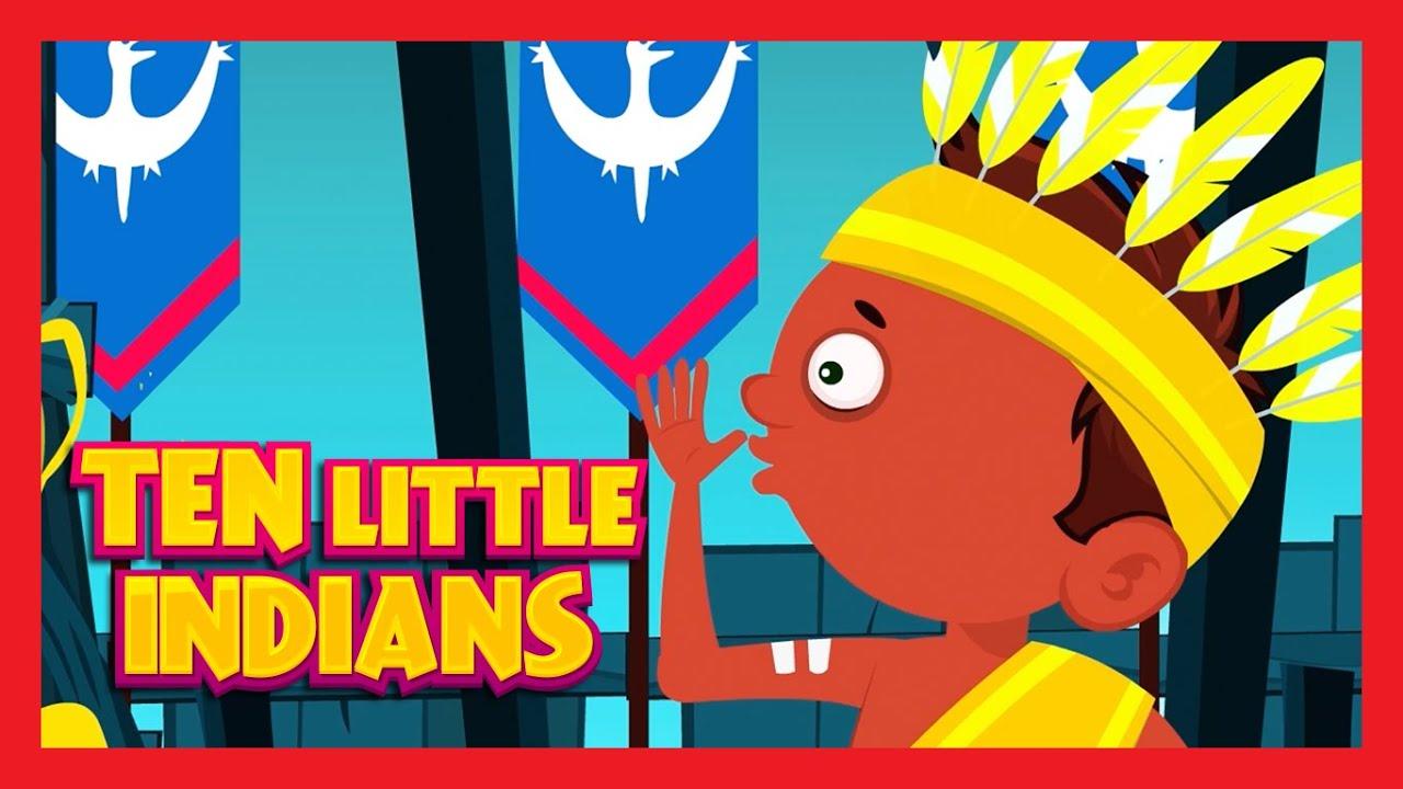 Ten Little Indians Nursery Rhyme with LYRICS | 10 Little ...