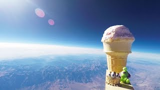 Will Ice Cream Melt On The Way To Space!?