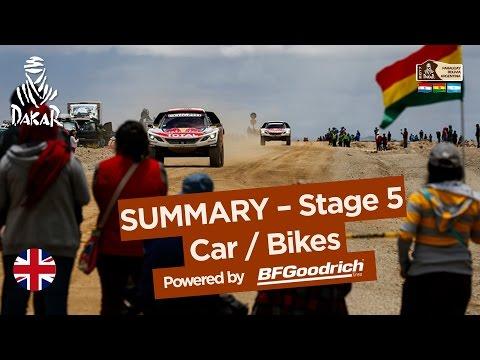 Stage 5 Summary - Car/Bike - (Tupiza / Oruro) - Dakar 2017