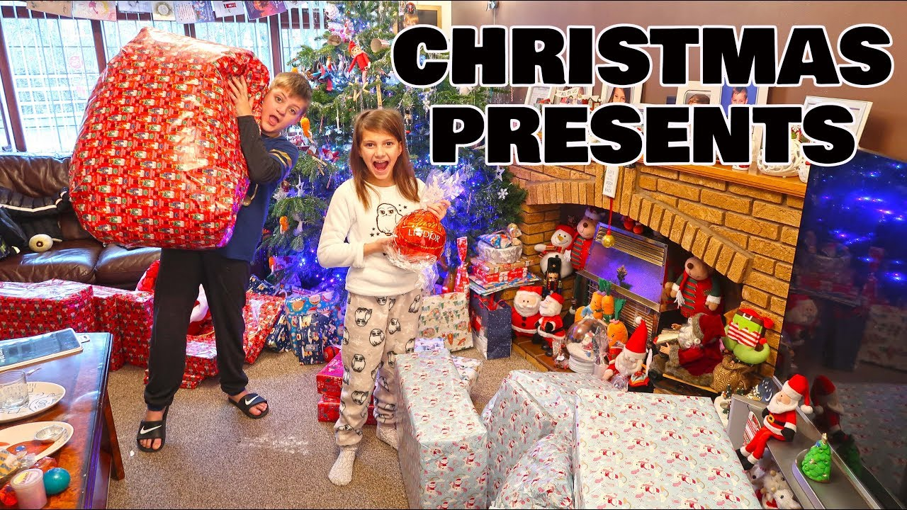 Christmas Morning Opening Presents 2018 Toys Fun Fam