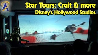 new star wars crait scene and more at star tours ride at disney s hollywood studios