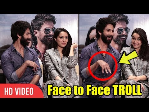 Shahid Kapoor Face To Face TROLL Shraddha Kapoor | Batti Gul Meter Chalu
