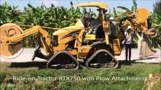 Vermeer Ride-on Tractor with Plow RTX750 #Vietnam