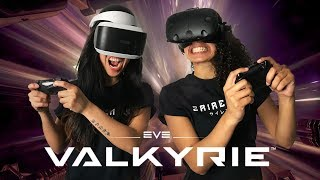 CROSS PLATFORM SPACE COMBAT IN VR! | EVE: Valkyrie Review (PSVR & HTC Vive Gameplay)