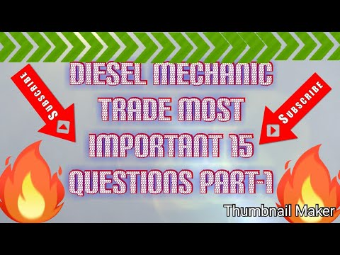 Download Diesel mechanic trade most important 15 question