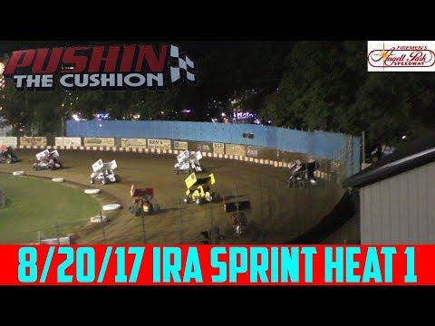 Angell Park Speedway - 8/20/17 - IRA Sprints - Heat 1