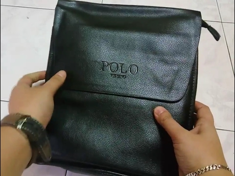 Unboxing of Fake Knock Off Polo Videng Sling Bag Black Color - YouTube 81ad8bbe44