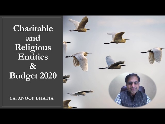 Charitable and Religious Entities & Budget 2020