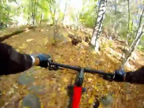 Trail biking Mianus River Park Connecticut Part I, GoPro Hero 3+, Specialized Epic
