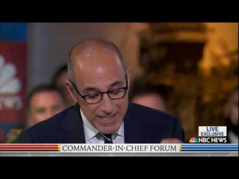 Commander in Chief Forum With Hillary Clinton and Donald Trump