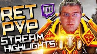 Ret Paladin PvP BFA: Stream Highlights (2V2 Arenas)