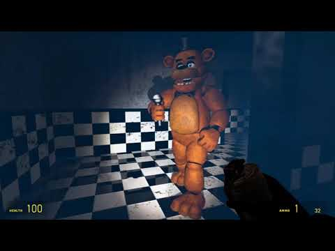 Messing Around On The Gmod FNaF 1 Map With Bon Bon!