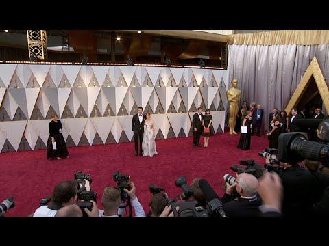 Oscars: Sacha Baron Cohen & Isla Fisher Red Carpet (2016)