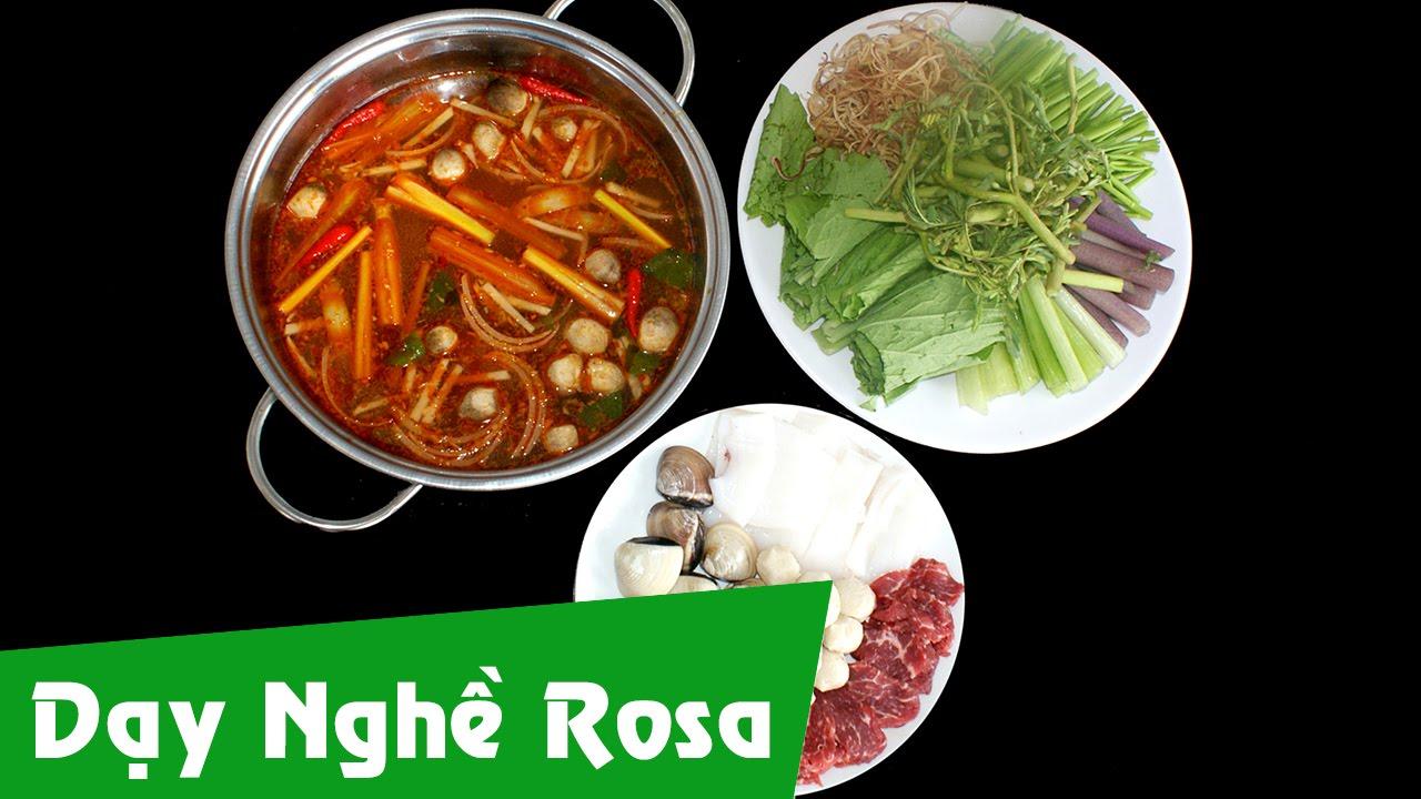 Dạy nấu ăn: cách làm món Lẩu Thái hải sản chua cay
