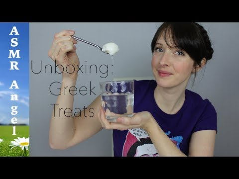 ASMR - Unboxing a food package from Greece - Soft Spoken