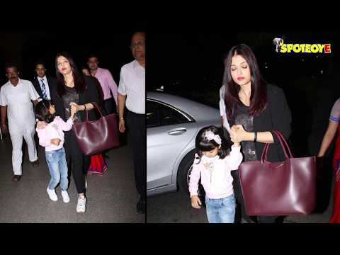 SPOTTED: Aishwarya Rai Bachchan and Aaradhya Bachchan Leaving for London | SpotboyE