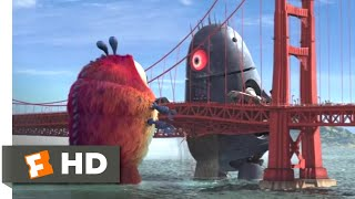 Monsters vs. Aliens (2009) - Golden Gate Grapple Scene (5/10) | Movieclips