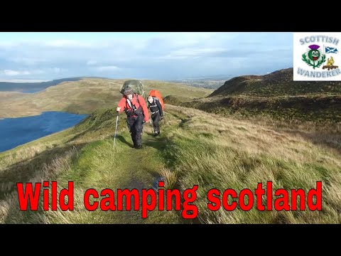 Wild Camping in Rain And Wind 55mph Scotland Kilpatrick Hills Alps Mountaineering Tasmanian 2