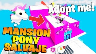 MY NEW PONY SAVAGE MANSION IN ADOPT ME ROBLOX!