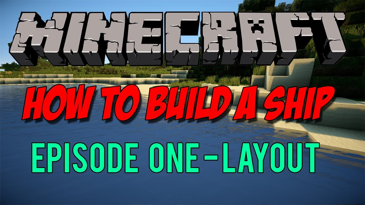 minecraft how to build a pirate ship part 1 layout youtube [ 1280 x 720 Pixel ]