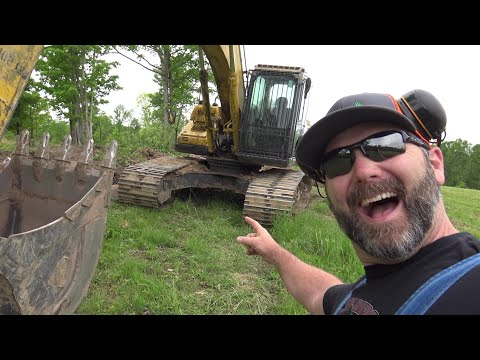 He Tossed Me The Keys To The Excavator!! Let's Learn How It Works!