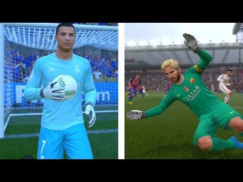 GOALKEEPER RONALDO vs GOALKEEPER MESSI - FIFA 17 ULTIMATE TEAM !!!