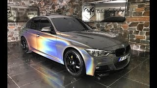 BMW 3 Series & Mercedes E Series Psychedelic Car Wrap