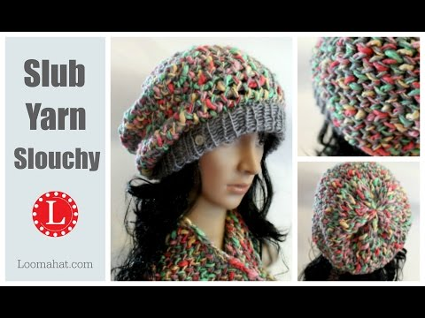 How to LOOM KNIT a Hat Slouchy Pattern Project ( Figure 8 Stitch )