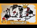 How to draw graffiti letters HOPE (2k18)