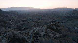 Sunset In Tabernas Desert, Spain   Europe's Only Desert   DJI Mavic 2 Pro