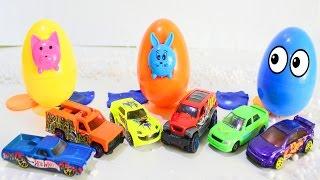 HOT WHEELS Мультик ПРО МАШИНКИ Развивающие мультфильмы для детей УЧИМ ЦВЕТА Большие яйца с ХОТ ВИЛС