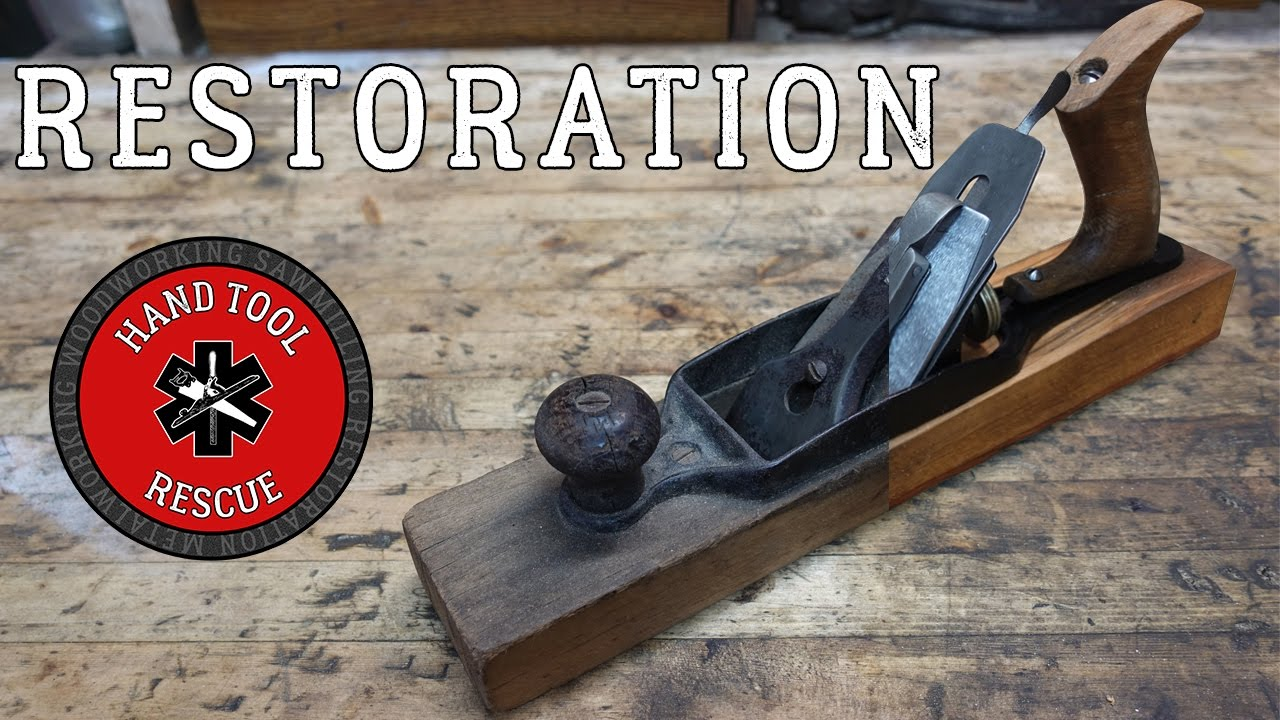 hand plane restoration. 1890s transitional hand plane [restoration] restoration