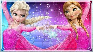 Эльза Холодное Сердце - Эльза и Анна Собираем Пазлы Для Детей