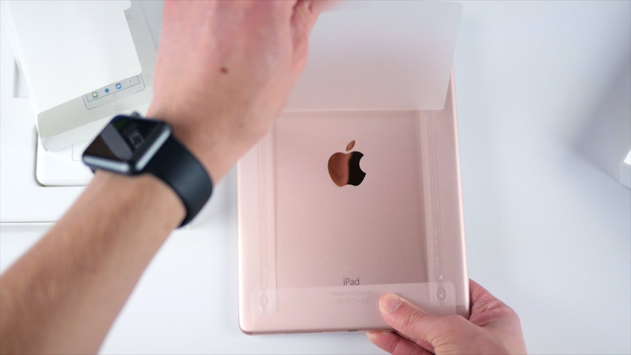 new 9 7 ipad pro unboxing rose gold youtube. Black Bedroom Furniture Sets. Home Design Ideas