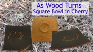 Woodturning A Petite Square Bowl In Cherry