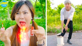 COUPLE PRANK ! 23 Funny Couple Pranks & DIY Funny Couple Situations by Jun Studio