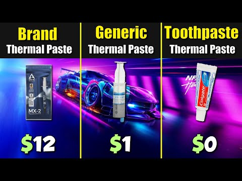 Cheap Thermal Paste vs. Branded vs. Toothpaste