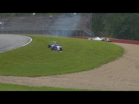 Formula 4 United States Championship 2017. Mid-Ohio Sports Car Course. Spins & Crashes