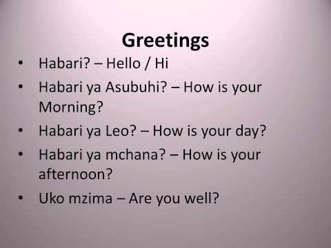Learn Swahili Greetings