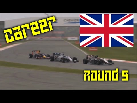 CRAZY RACE WITH SO MANY RETIREMENTS | Round 9: Britain | F1 2015 Career Mode