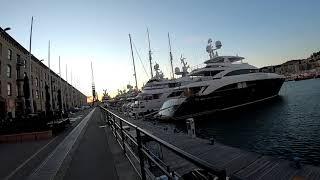 【観光見どころ】ジェノバの港を散策!超巨大なクルーザーが停泊していて萌える...。