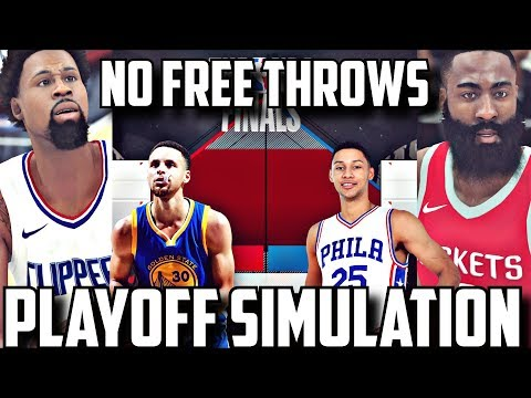 THE NBA REMOVES THE FREE THROW LINE IN THE 2018 PLAYOFF SIMULATION ON NBA 2K18!!!